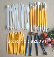 Free shipping 3 Set (38 pcs) Sugarcraft Cake Decorating pen Fondant Icing cookie Plunger Cutters Tools Many Shapes Mixed
