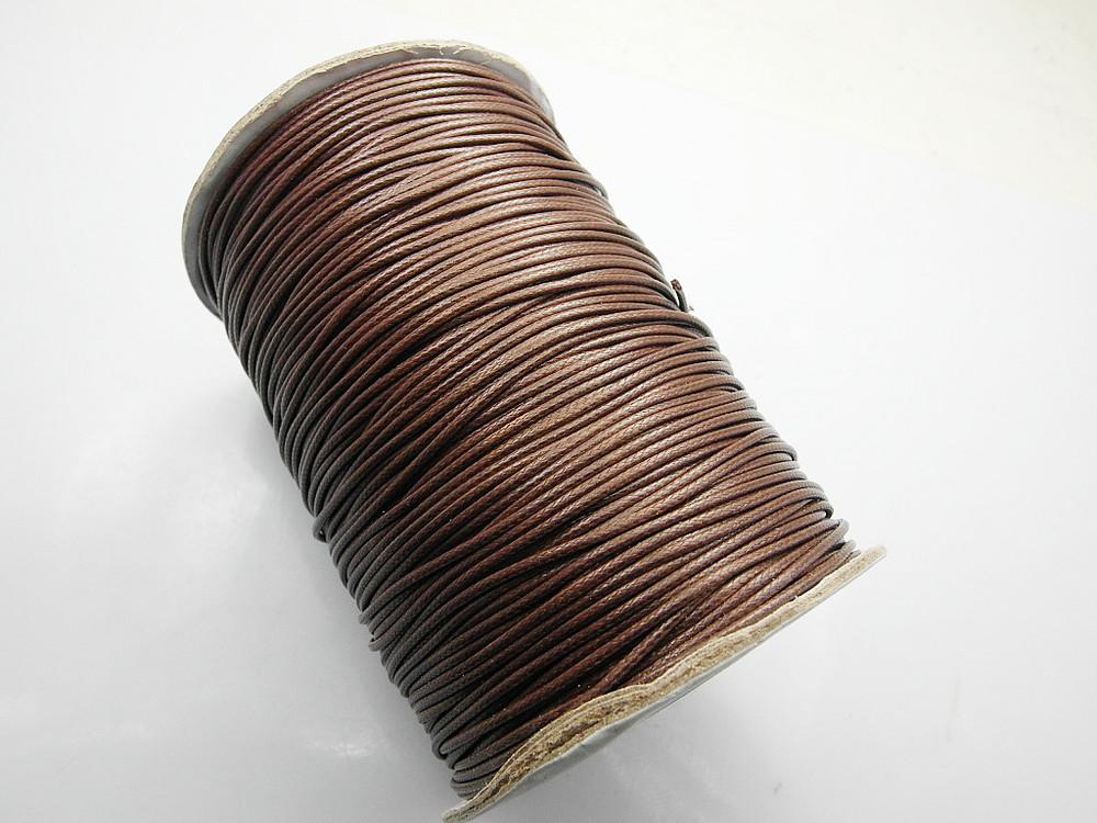 Brown Korean Wax Nylon Cord, Shamballa cord Wholesales, 1mm, 160m/roll Free Shipping(China (Mainland))