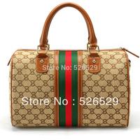 Free Shipping Elegant Vintage famous brand name handbags wholesale women's handbag genuine leather it handbag lady cylinder bags