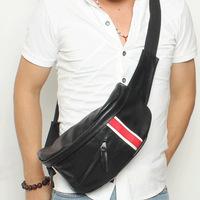 2014 High Quality Men's Messenger Bag PU Leather Chest bag for Travel Men Sport Bag Man Shoulder Crossbody Bags