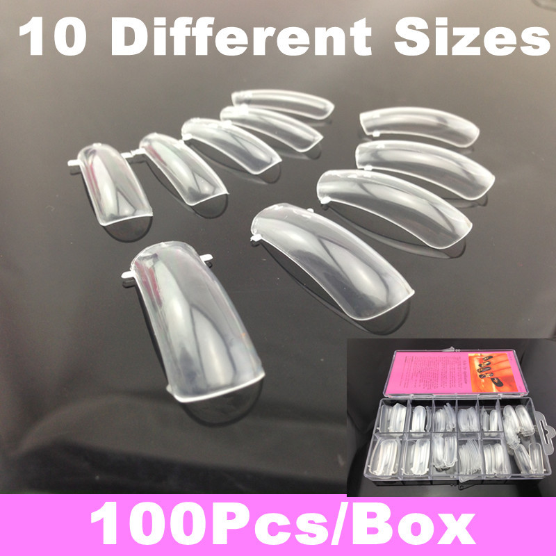 100pcs Dual Nail System Form for UV Acrylic Nail Art Tip + Free Shipping(China (Mainland))