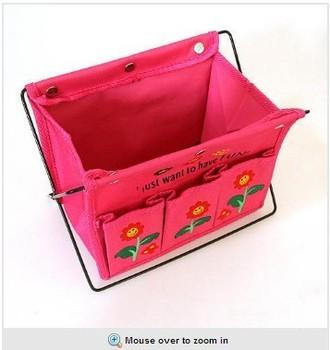 Free Shipping Oxford fabric folding hoaxed debris basket storage desktop box /home table organizer color random
