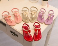 Free shipping Hot sale 2013 summer sandals sweet flower toe cap covering child sandals 21--30
