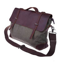 Backpacks Vintage messenger  man  cowhide canvas  handbag fashion casual backpack one shoulder cross-body  school  Bags