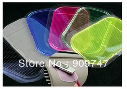 Powerful silicone Gel Magic Sticky Pad Anti Slip Non Slip Mat for Car GPS,Silicone Non slip Sticker 50pcs/lot Free Shipping(China (Mainland))