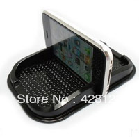 PU mobile phone holder,car anti slip mat,GPS navigation holder/Magic Sticky for Iphone  MP4 MP3 free shipping by dhl