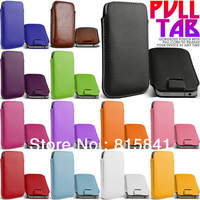SLiDE PULL TAB POUCH CASE COVER SKiN fOr Samsung i9500 Galaxy S4 10pcs/lots