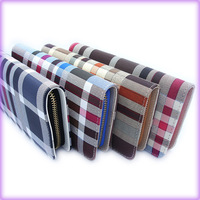 Hot sale high quality PU leather plaid women wallet  free shipping retail and wholesale(WP206)