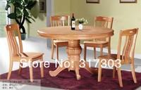 SOLID WOOD DINING ROOM FURNITURE, FACTORY WHOLESALE, OAK CHAIR AND DESK SET,ROUND DESKT-602