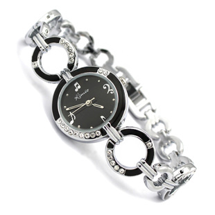 Free shipping Kimio quartz ladies the trend of the notes rhinestone fashion cutout casual bracelet watch 423(China (Mainland))