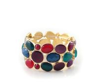 [Mix 15USD] Royal multicolour gold Gem bracelet bagnle