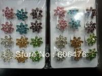 H001 wholesale fashion flower brooch elegant scarf pin classic muslim hijab pin free shipping