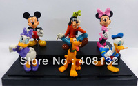 6pcs New Mickey Minnice Goofy Pluto DonaldDuck Loose Free shipping