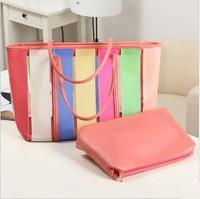 Rainbow 2013 bag shoulder bag handbag candy color jelly bag sweet fashion
