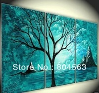Hand painting 3pc Modern Abstract Huge Canvas Oil Painting (No frame) r1237