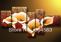 Modern Huge Wall Art Oil Painting On Canvas Pure hand-drawn flowers(No frame) x2457