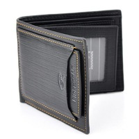 Men Leather Wallet Pockets Money Purse ID Credit Card Clutch Bifold Black
