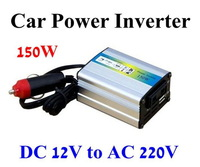 150W Modified Sine Wave Mobile USB Car Power Inverter Adapter DC 12V to AC 220V Free Shipping