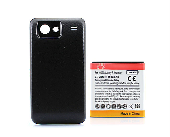 Hot Phone Replacement Extended Backup Thicker 3500mAh Battery Black with Back Cover For Samsung Galaxy S Advance i9070 GT-i9070