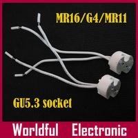 LED MR16 Lamp Base holder socket G4/MR11/GU5.3 Free shipping 300pcs/lot bulb adapter