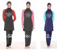 3 Colors New Arrivel Plus Size Fashion Made-to-measure Girls Muslim Swimwear Islamic Swimwears Women Beach Swimsuits For Muslim