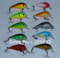 10pcs/lot  Sinking Fishing Hard Lure Bait Hooks 50mm 4-6g