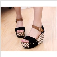 sandals female  vintage platform shoes wedges platform shoes open toe shoe