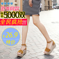 Fashion sweet 2014 platform sandals female summer platform wedges sandals platform shoes