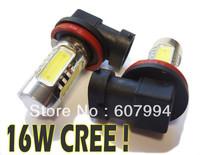 free shipping H11 16w  LED Fog Light, Headlight, P43T CREE Fog Lamp 16W CREE. H4,H6,H7,H8,H9,H10,H11,9005,9006,9004,9007,16W