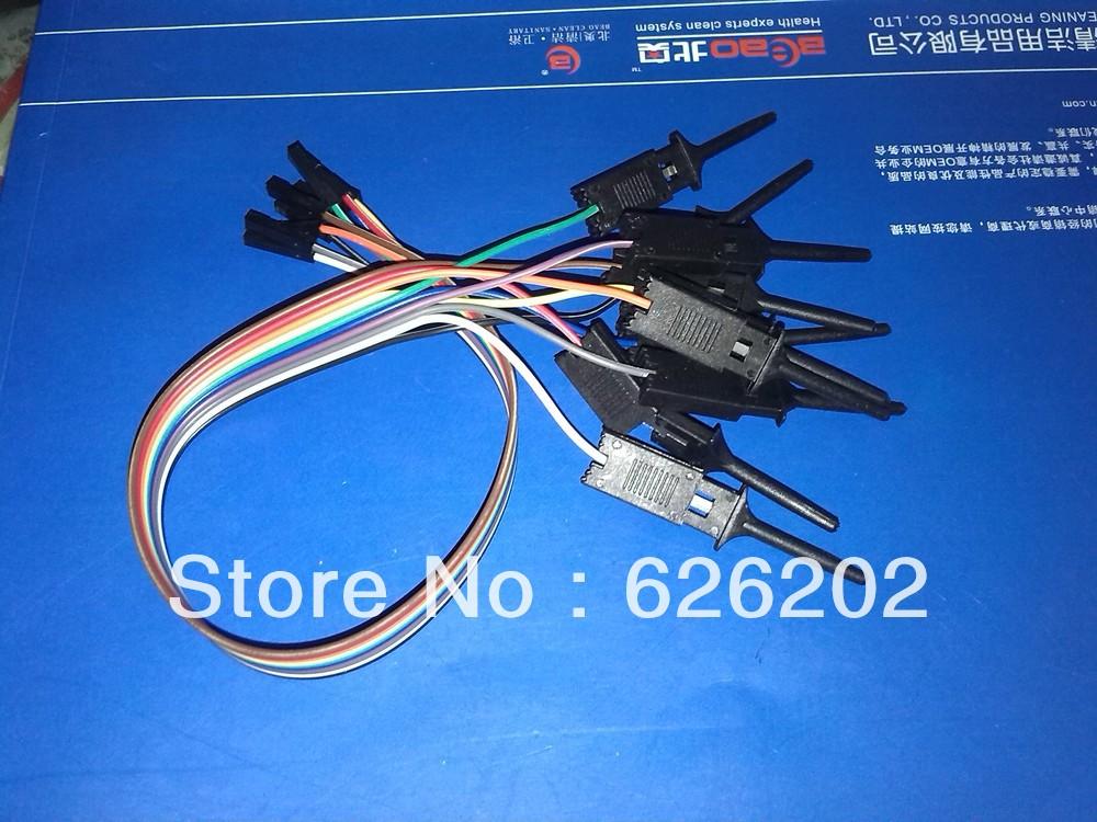 Free Shipping!2LOT =20pcs Quality test of the quality test hook clip. Logic analyzer test folder. For USB Saleae 24M 8CH