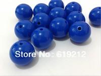 100pcs/lot  20mm Royal Blue Acrylic Solid