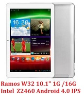 New 10.1inch Ramos W32 Intel Atom Z2460 1.6GHz tablet pc IPS 1280x800 PowerVR SGX540 android 4.0 Bluetooth WIFI OTG