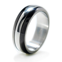 Rotating equte fashion titanium ring finger ring male