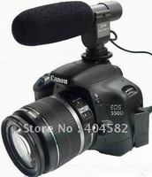 wholesales/free shipping SG-108 Stereo Shotgun Microphone for CANON NIKON PENTAX OLYMPUS PANASONIC D-SLR