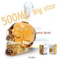 3 pcs/lot 500ml Crystal glass Head wine Vodka Skull Bottle Best gift Doomed