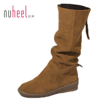 Winter women's  boots  female genuine leather flat heel tall boots magicaf 1682