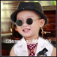5Pcs/Lot Free Shipping Vintage circle Children sunglasses round glasses mirror Lens sunglasses Boy mirror sunglasses