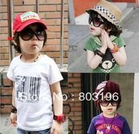 5Pcs/Lot Free Shipping Vintage Fashion Large Frame Children's Sunglasses anti-uv Baby sunglasses glasses