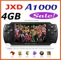 JXD A1000 4.3 inch LCD Screen 4GB Game Console Media Player MP4 MP5 Player with Camera Free Shipping