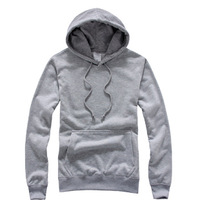 Loose solid color lovers fashion pullover with a hood plus size sweatshirt blank loop pile heather grey short design