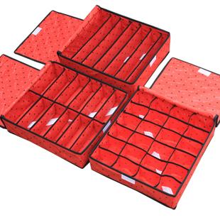 Free shipping 3Pcs A Set Foldable Box Bamboo Charcoal Fibre Storage Box For Bra Underwear Necktie Socks Retail & wholesale