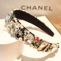hot Free shipping  new limited edition luxury baroque gem full rhinestone handmade hairbands