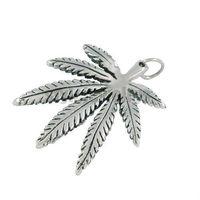Free shipping! The Marijuana Leaf Pendant Stainless Steel Jewelry Fashion Biker Pendant SWP0042