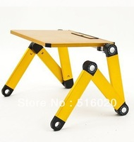 1pcs Free Shipping folding laptop table foldable laptop desk  notebook table folding drawing board stand office table