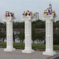 4pcs/lot roman pillar Wedding props roman column cutout 95cm translucidus  roman column