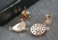 Minimum order is $10// fashion titanium Classic round shells hanging earrings with good quality EDB--05