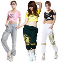 AA-12 fashion 2014 summer spring Jazz dance clothes Hip-hop trousers Punk pants hip hop women summer pants sportswear sport