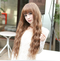 newest trendy most popular brand design young ladies girls silk top full lace wigs weaves synthetic hair curly cosplay wig cheap