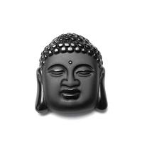 Natural crystal obsidian maitreya male pendant evil spirits lucky buddha head