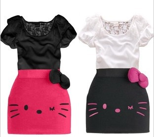 free shipping retail 100% cotton girl's dress,kid's fashion lovely cat lace dress,baby's lovely summer dress,lss039